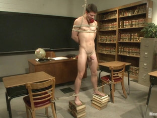 Hot student taken down and edged in the classroom