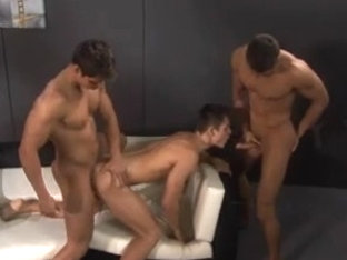 Horny gay hunks enjoy bareback gay fucking