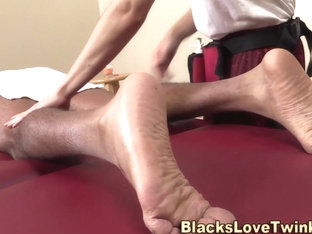 Tiny twink fux black dick