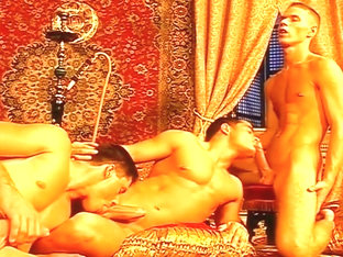 Arabian Nobles Share A Muscle Stud's Tight Young Ass Hole