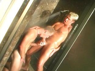 Gay Blondes Banging and Blowing Big Balls