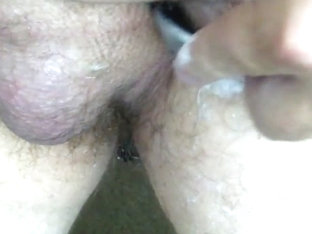Shaving uncut strapon