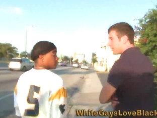 Black homo in dorag sucks