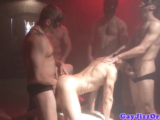 Masked orgy with Dean Monroe and pals