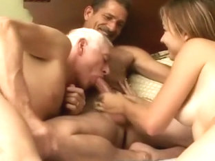 Exotic homemade gay scene with Blowjob, Threesomes scenes