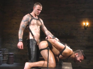 Christian Wilde,Seth Santoro in Submissive Seth Santoro Suffers For Christian Wilde - BoundGods