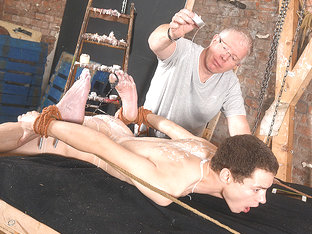 Roped Down  Exposed For Arse Play! - Jonny Pistol  Sebastian Kane - Boynapped