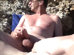 masturbating at the nude beach