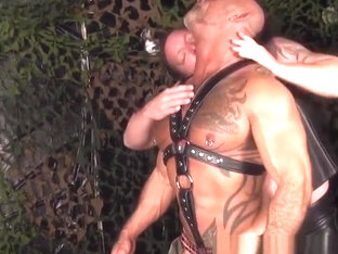 Mature leather bear fucked by bearded ginger