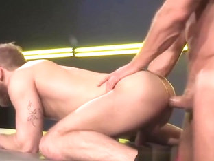Landon Conrad charges in and pins Shawn doggy style