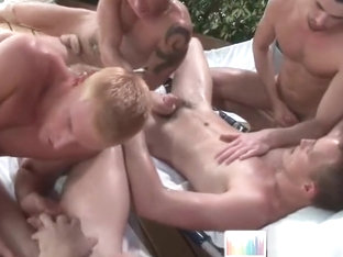 Alex Andrews in nasty gay porn gangbang part3