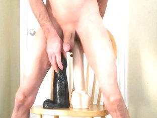Double Anal Extreme and Ass Fucking Two Giant Dildos