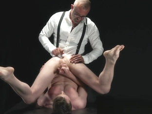 BoyForSale - Jock prostate is pummeled by rough manhandling Stepdaddy Dom