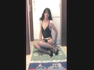 Skinny Transsexual Dildoing On Cam At Home