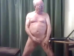 grandpa wank and cum in front of cam