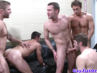 Cumshots galore at a Colby Jansen orgy