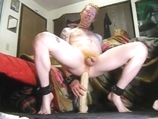 A redhead and his big sex-toy