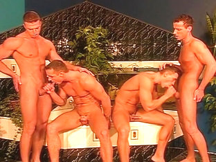 Four Gay Swingers Swap Anal Partners