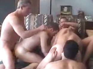 Fabulous male in best group sex, frat/college gay sex video