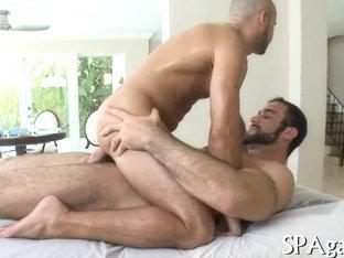 Raunchy massage session