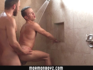 MormonBoyz - Young smooth missionary has bareback sex with older priest crush