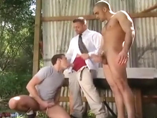 Jesse Santana, Tyler Saint & Damien Crosse outdoors