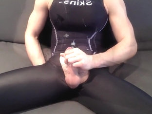Spandex Slut Cum Everywhere