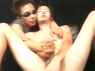 Horny Asian gay guys in Crazy handjob, fingering JAV movie