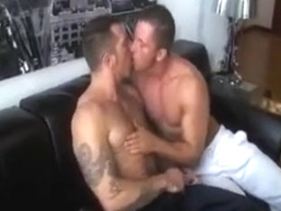 Beefy tattooed chaps ass drilling.