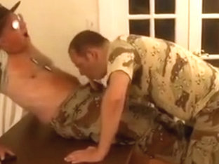 Nasty mature Sergeant gets satisfied