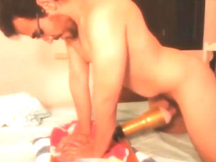 Horny guy fucks his fleshlight