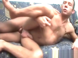 He sucks hard cock and gets sperm in his ass