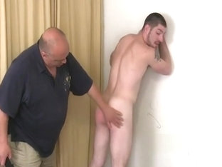 Tough guy spanked