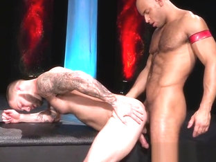 Sean Zevran has some fun with Chris Bines