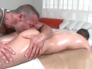 Massage turns into gay fucking part4
