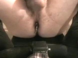 anal beads and cum