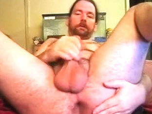 Another man playing nasty in front of the webcam