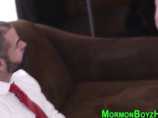 Bear tugs mormons cock