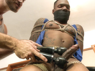 Big cock stud gets edged in the gym