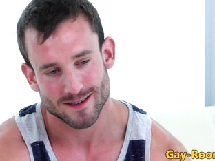 Ripped gaycastings amateur hunk facialized