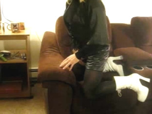 Small, Amateur, Crossdresser Fucked in Mouth By Owner.