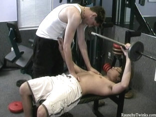 RaunchyTwinks Video: Sexy gay gym party