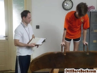 Dilf coach barebacking skinny students ass