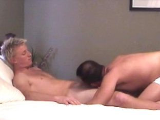 Well Hung Blond Tart Tyler Jerks His Dick While Taking Anal