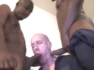 Amazing male in best interracial, group sex gay porn scene