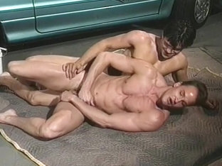 Vic Hall Takes Big Dick in Garage