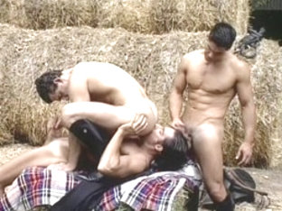 Horny male pornstar in exotic blowjob, group sex homo porn clip