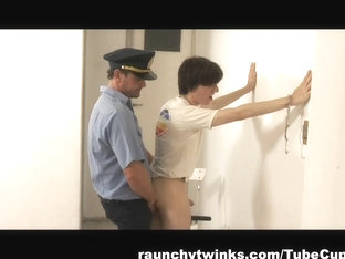 RaunchyTwinks Video: Naughty Boy Arrested And Fucked