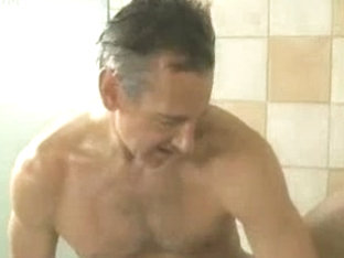 Wicked hunks fucking hard in the shower