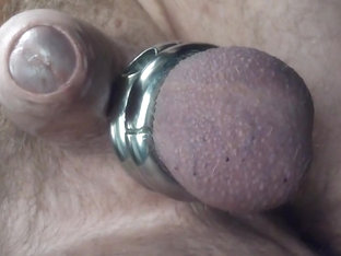 Prostate milking onto mirror  filmed viewing reflection